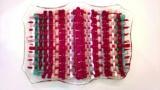 10 1/2 x 8 inch woven glass dish
